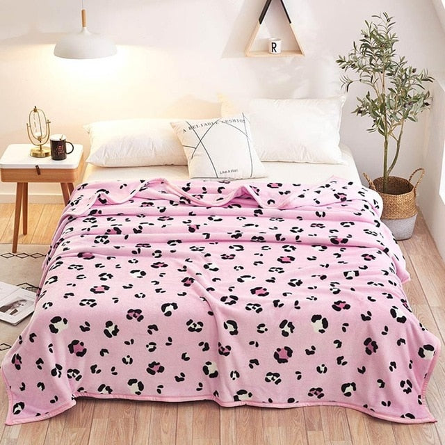 print summer throw blankets coral fleece plaids