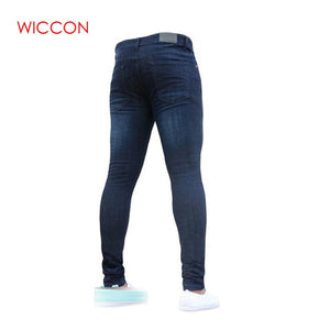 Pencil Fashion Casual Slim Fit Straight Skinny Zipper Jeans