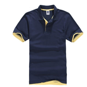 Classic Polo Shirt Men Cotton Solid Short Sleeve Tee Shirt