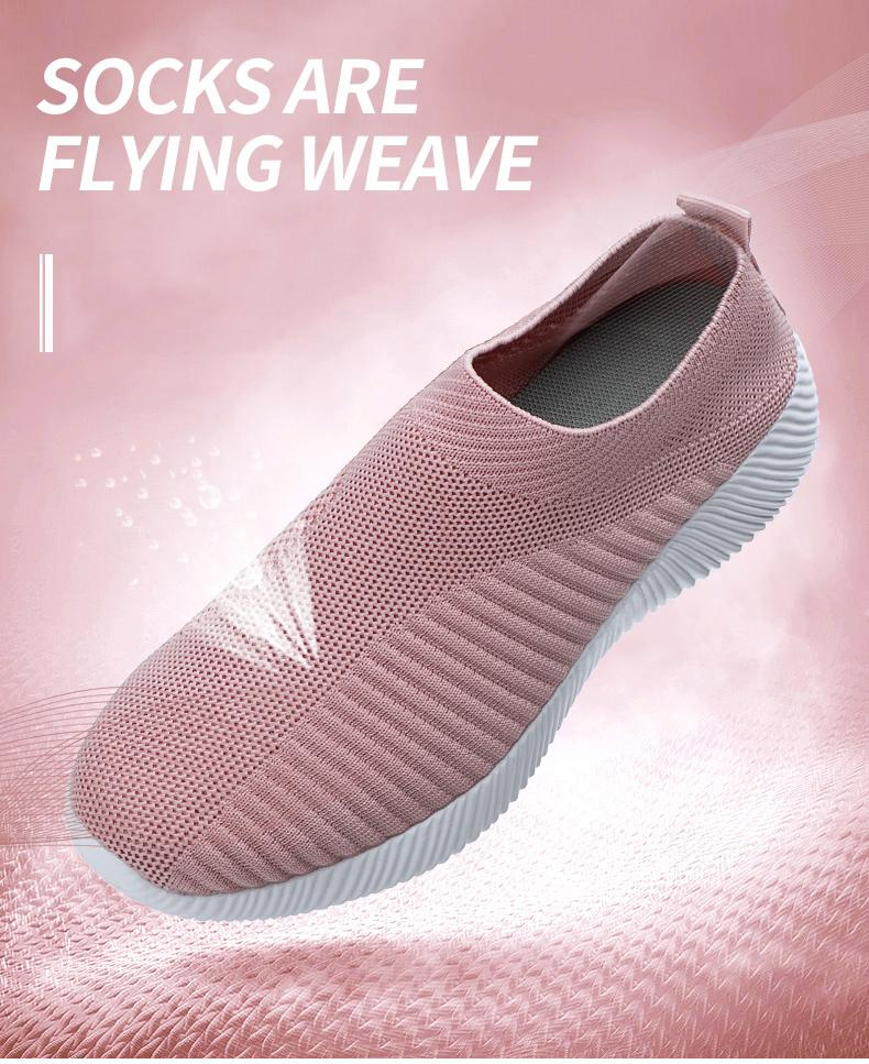 Casual Light Breathable Mesh knitted Vulcanized Shoes
