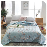 Soft Breathable Cool Blanket Thin Geometric Print Bedspread