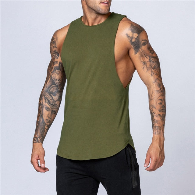 Workout Gym Mens Tank Top Vest Muscle Sleeveless Sportswear