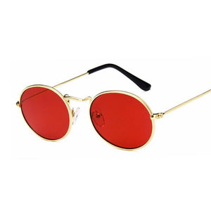 Retro Oval Sunglasses Vintage Small Shades