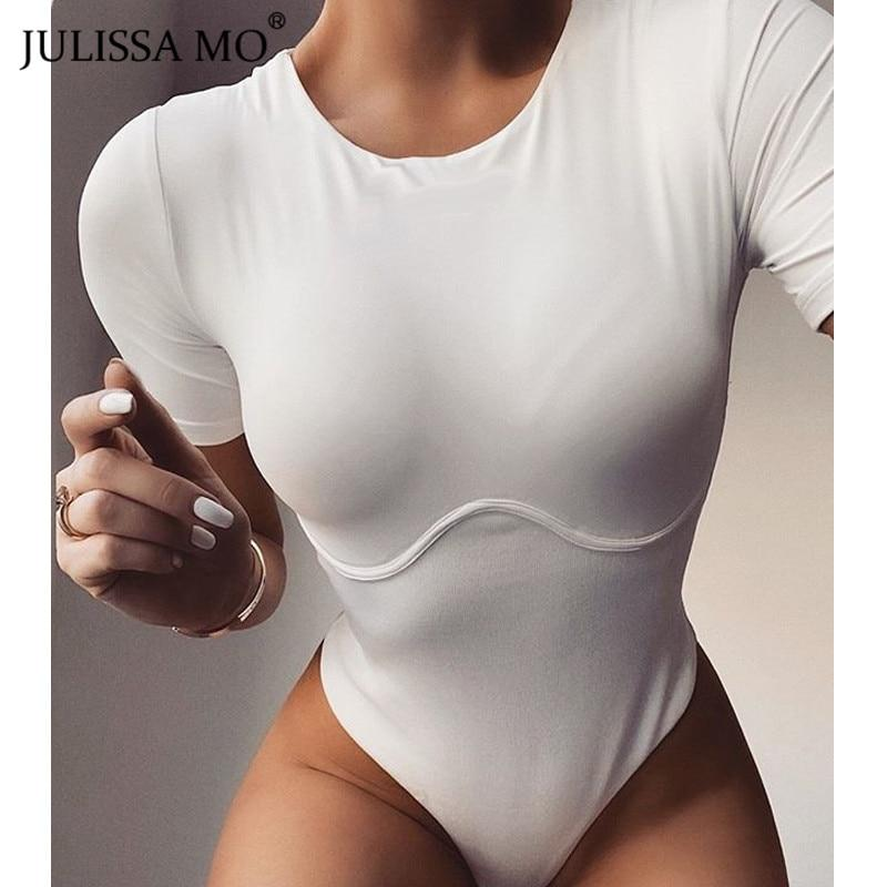Cotton White Short Sleeve Bodysuit