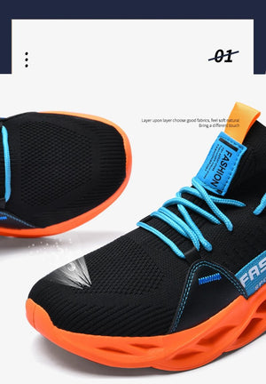 Running New Flying Weave Super Light Men Sports Shoes