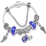 Y1 Fashion Bear Palm Dreamcatcher Feather Charm Bracelets