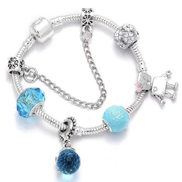 Y2 Fashion Bear Palm Dreamcatcher Feather Charm Bracelets