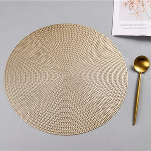 38CM Round PVC Placemat Kitchen Dining Table Mats
