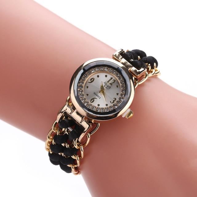 Knitting Rope Chain Winding Analog Quartz Watch