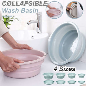 Folding Bucket Portable Collapsible Basins Household Cleaning Supplies