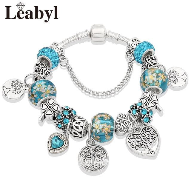 Y1 Tibetan Silver Tree of Life Fashion Bead Bracelet