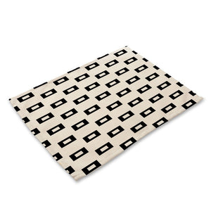 1Pcs Geometric Letter Pattern Placemat
