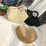 Bohemian Paper rope Straw Bags for Women Vintage Rattan Bag