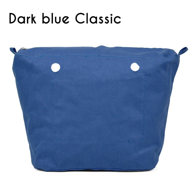 Inner Lining Insert Zipper Pocket for Classic Mini Obag Canvas