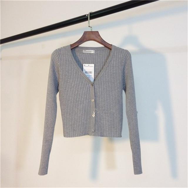 Patchwork Fashion Slim Ladies Knitted Sweater