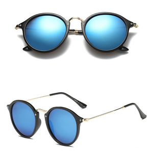 Round Retro Sunglasses Men Brand Designer Fashion