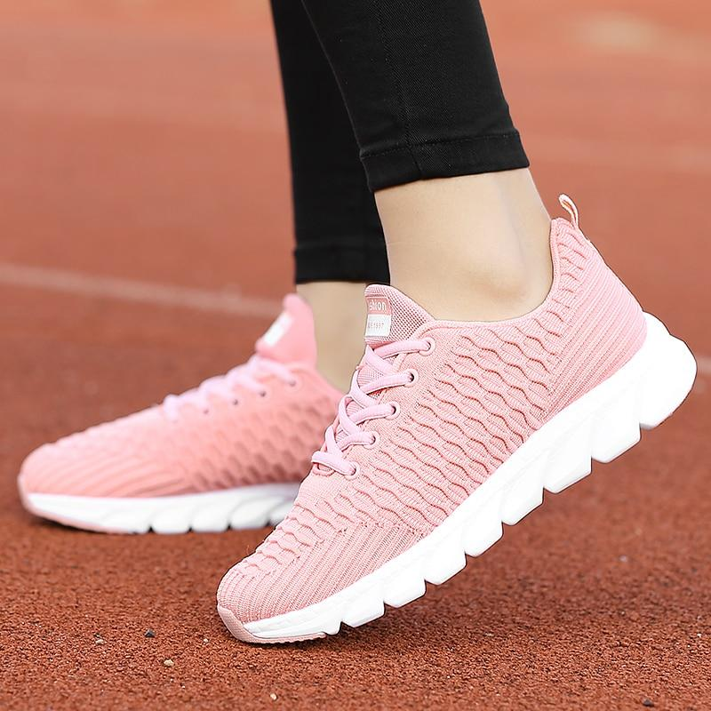 Mesh Women Sneakers Breathable Flat Lightweight Casual Shoes