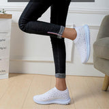 Women Flats Sneakers Crystal Fashion Bling Sneakers Casual Slip On