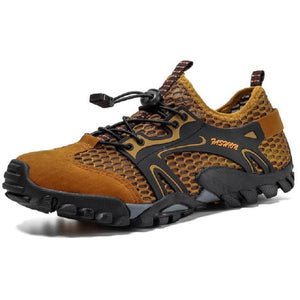 Breathable Hiking Shoes Suede + Mesh Men Sneakers