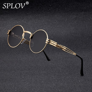 Fashion Retro Steampunk Round Metal Sunglasses