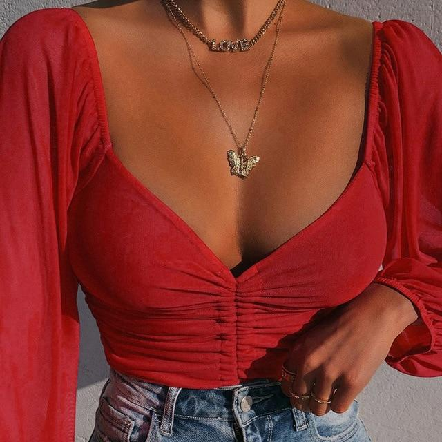 Drawstring Ruched Sexy Blouse Puff Sleeve Off Shoulder