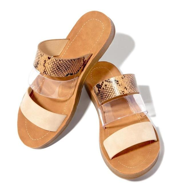 Slippers Serpentine Double Layer Sandals Flat Bottom Beach Sandals