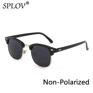 Fashion  Semi Rimless Polarized Sunglasses