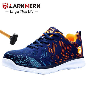 Lightweight Breathable Men Safety Steel Toe Work Shoes