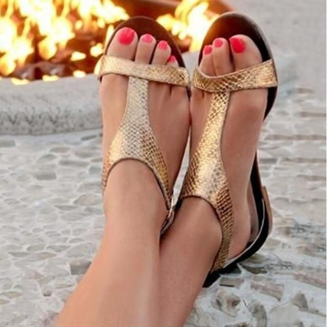 Fashion Open Toe Beach Gladiator Rome Casual Flat Sandals