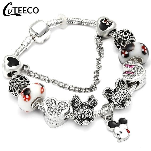 Y2 Rose Pendant Tree Of Life Charm Bracelet