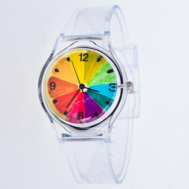 Transparent Watch Silicon Watches Sport Casual Quartz Starry sky