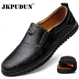 Genuine Leather Casual Slip on Formal Loafers
