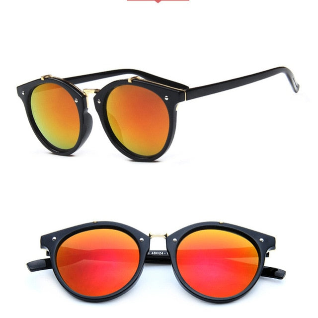 Vintage Rivets Sunglasses Candy Color