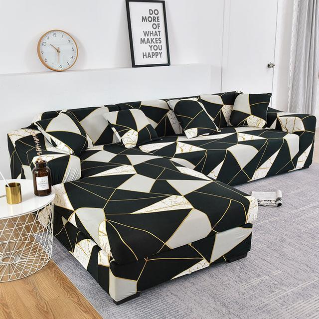 Geometric Tight Wrap Sofa Cover Living Room Elastic Couch Cover