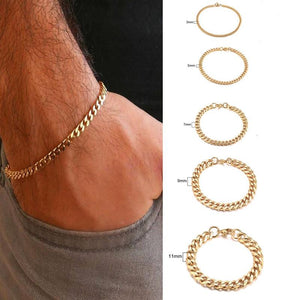 Curb Cuban Link Chain Stainless Steel Bracelets
