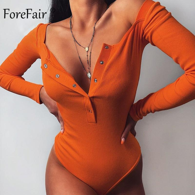 Long Sleeve Skinny Casual One-Pieces Bodysuit