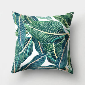 Tropical Plants Pattern Decorative Cushions Pillowcase
