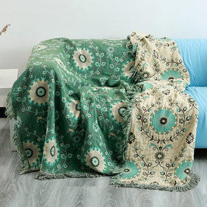 100% Cotton Muslin Summer Blanket Gauze Bed Sofa Cover Chic