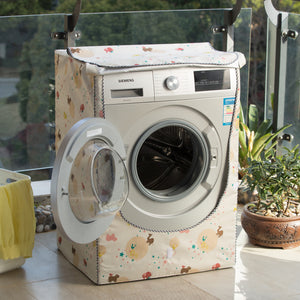 Washing Machine Cover Waterproof Case Polyester Silver