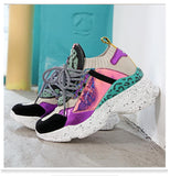 Sneakers Platform White Sneakers Horsehair Casual Chunky Shoes