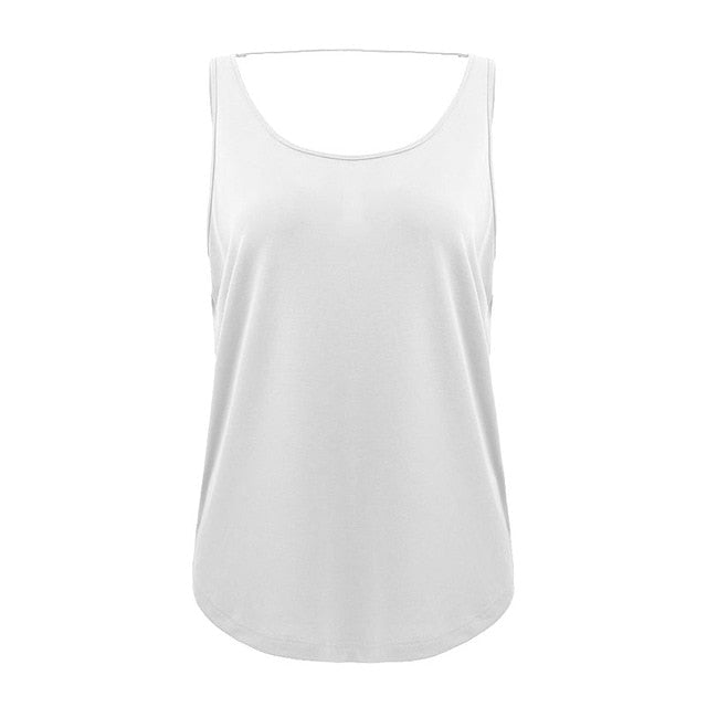 Backless Fitness Yoga Tops Sleeveless Workout Shirts