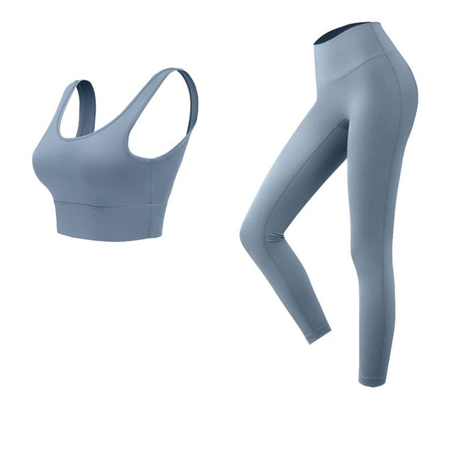 yoga 2-piece set Exercise Yoga Set Sports Bra and Leggings