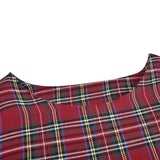 Plaid Dress Long Sleeve Scottish Plaid Slim Dress C