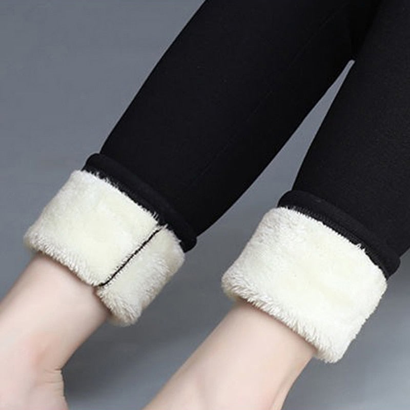 Winter Velvet Leggings Women's Warm Pants