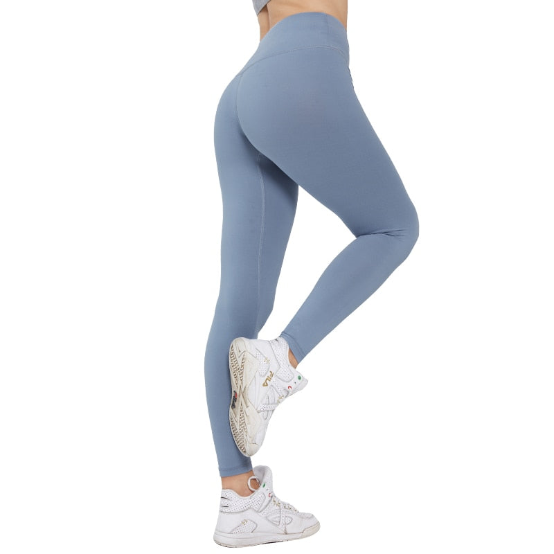 Solid Leggings Gym Fitness High Waist Gym Sports