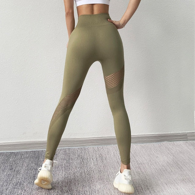 High Waist Push Up Leggings Fitness Gym Sports