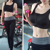 Women Zipper Sports Bras Padded Push Up Fitness