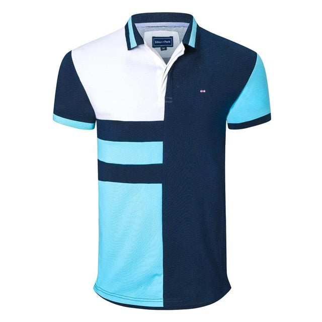 patchwork polo shirts park brand design straight tops
