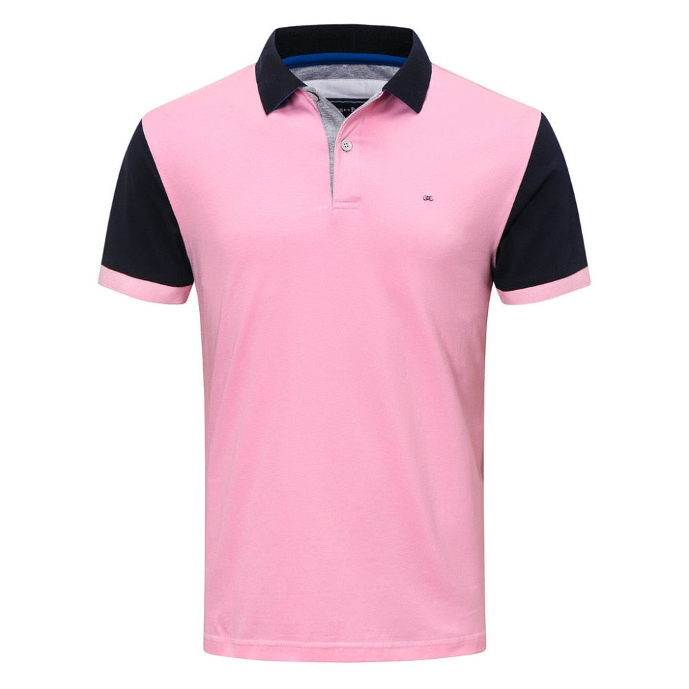 Polo Shirt  Mens Casual Embroidery Cotton