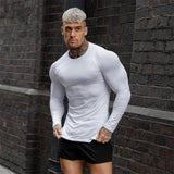Brand Gym Clothing Fitness T-shirt Men Compression Skinny Bodybuilding